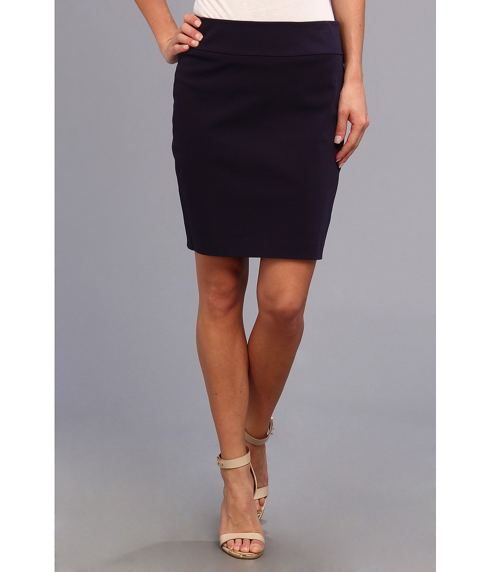 Christin Michaels Darla Pencil Skirt (New Navy) Women