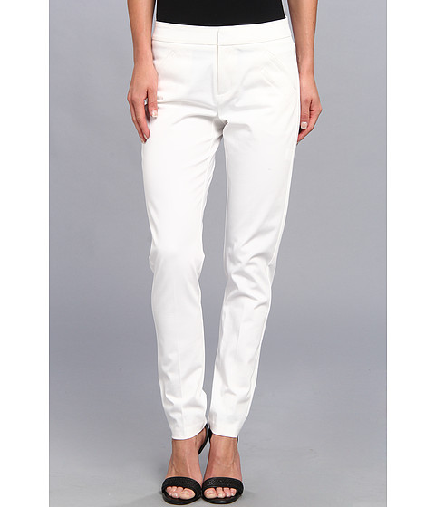 Christin Michaels - Ankle Pant with Angle Slit Pockets (White) Women