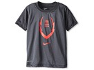 Nike Kids Football Graphic Dri-Fit Tee (Toddler/Little Kids) (Anthracite) Boy's T Shirt