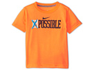 Nike Kids Impossible Tee (Toddler) (Total Orange) Boy's Short Sleeve Pullover