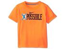 Nike Kids Impossible Tee (Toddler) (Total Orange)