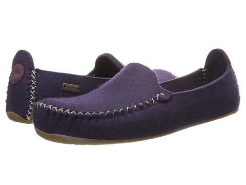Haflinger - Moccasin (Eggplant) Slippers
