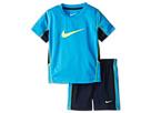 Nike Kids Swoosh Short Set (Toddler) (Black/Volt)
