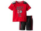 Nike Kids Just Do It Baseball Short Set (Toddler) (Black)