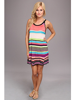 SALE! $54.99 - Save $33 on Echo Design Pop Stripe Halter Dress Cover Up (Multi) Apparel - 37.51% OFF $88.00