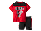 Nike Kids Just Do It Short Set (Toddler) (Black)
