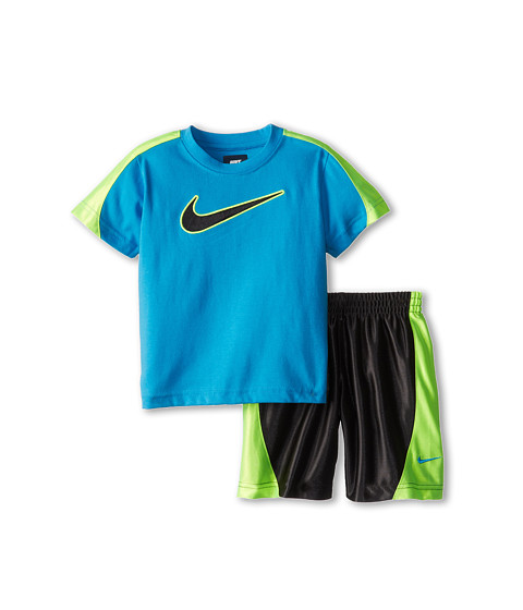 Nike Kids - Swoosh Short Set (Toddler) (Anthracite) Boy
