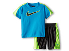 Nike Kids Swoosh Short Set (Toddler) (Anthracite)