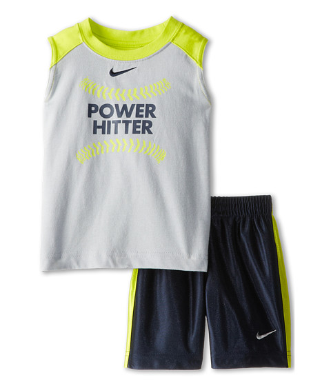 Nike Kids - Power Hitter Muscle Set (Obsidian) Boy's Active Sets