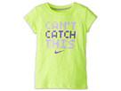 Nike Kids Can't Catch This Tee (Little Kids) (Volt Ice) Girl's T Shirt