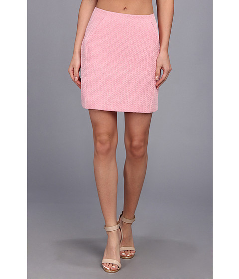 Brigitte Bailey - Heather Woven Pencil Skirt (Pink) Women's Skirt