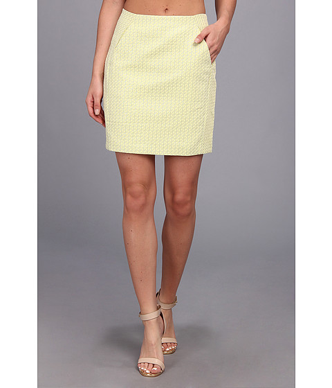 Brigitte Bailey - Heather Woven Pencil Skirt (Yellow) Women's Skirt