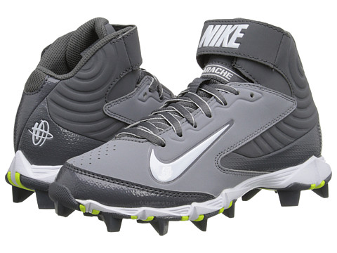 Nike Kids - Huarache Keystone 3/4 BG Baseball (Toddler/Little Kid/Big Kid) (Stealth/White/Light Graphite) Kids Shoes