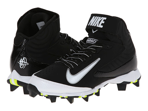 Nike Kids - Huarache Keystone 3/4 BG Baseball (Toddler/Little Kid/Big Kid) (Black/White) Kids Shoes