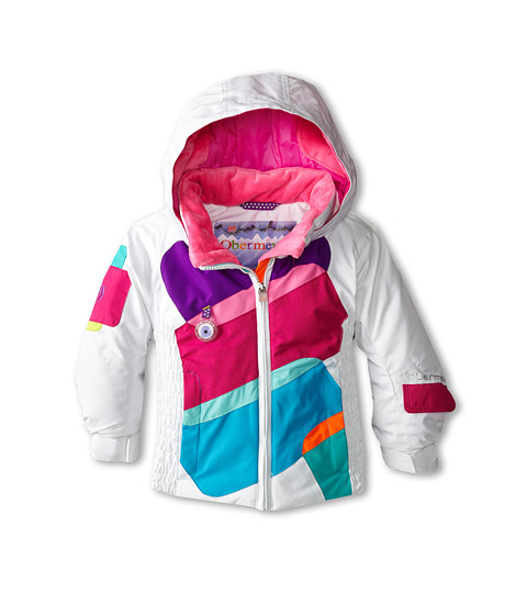Obermeyer Kids - Prism Jacket (Toddler/Little Kids/Big Kids) (White) Girl's Coat