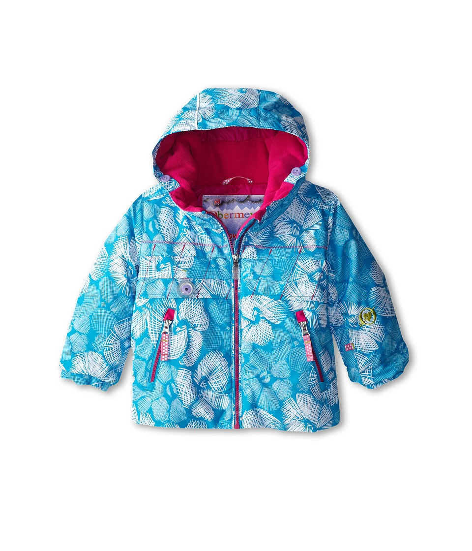 Obermeyer Kids - Aurora Jacket (Toddler/Little Kids/Big Kids) (Ocean Snowflower) Girl