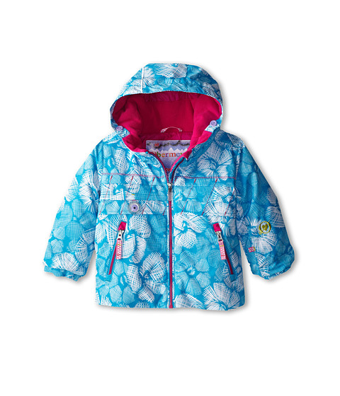 Obermeyer Kids - Aurora Jacket (Toddler/Little Kids/Big Kids) (Ocean Snowflower) Girl