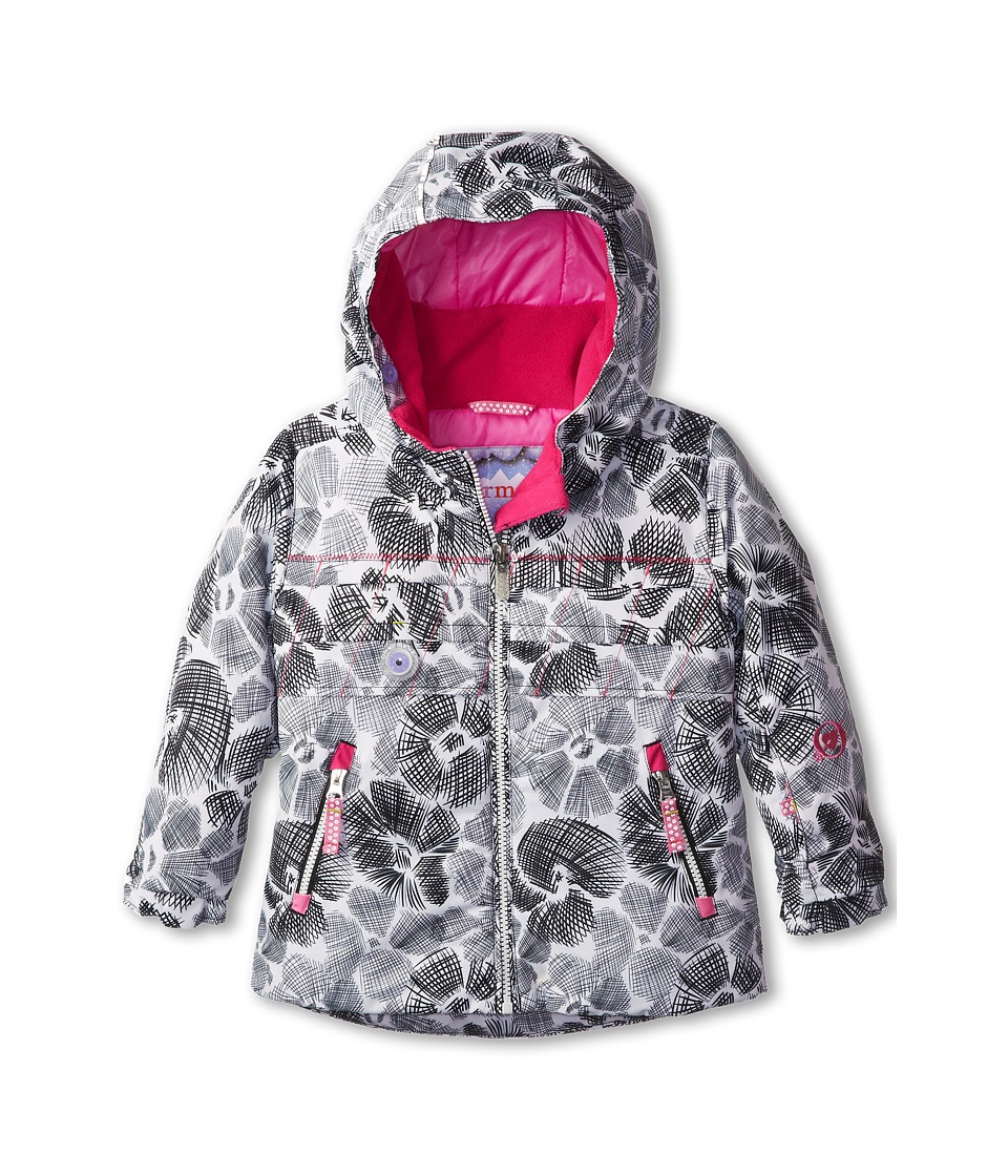 Obermeyer Kids - Aurora Jacket (Toddler/Little Kids/Big Kids) (White Snowflower) Girl