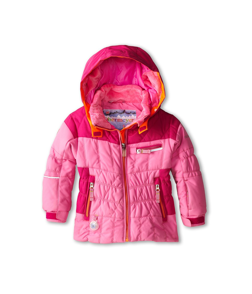 Obermeyer Kids - Gaia Jacket (Toddler/Little Kids/Big Kids) (Neo-Pink) Girl