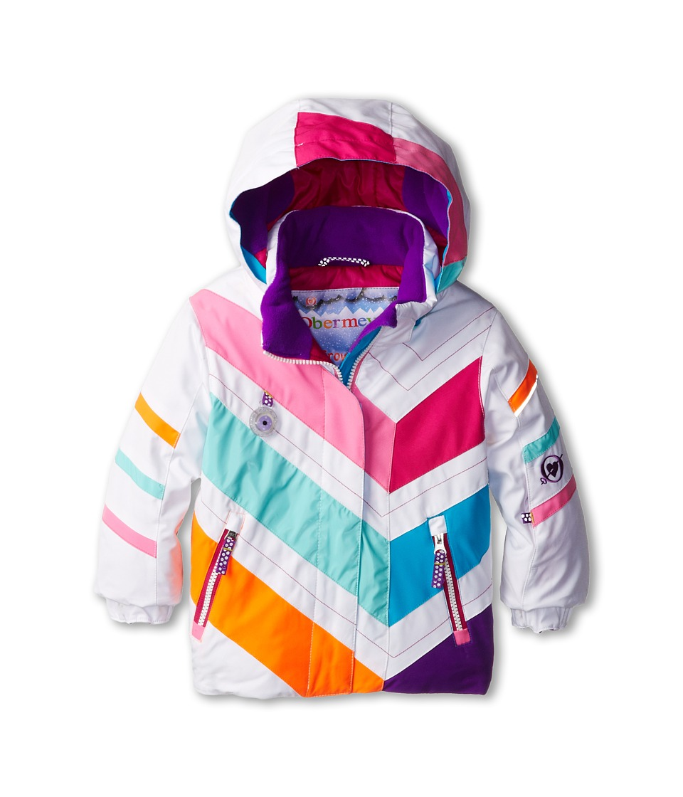 Obermeyer Kids - Chakra Jacket (Toddler/Little Kids/Big Kids) (White) Girl