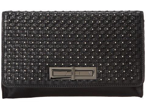 Elliott Lucca - Serra Slim Clutch (Weave And Stud Black) Clutch Handbags