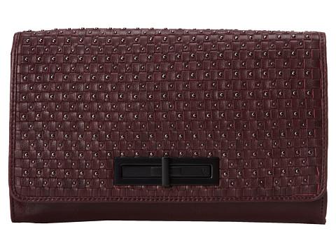Elliott Lucca - Serra Slim Clutch (Weave And Stud Vino) Clutch Handbags