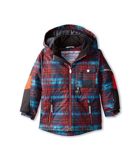 Obermeyer Kids - Big Time Jacket (Toddler/Little Kids/Big Kids) (Electric Wolf Plaid) Boy