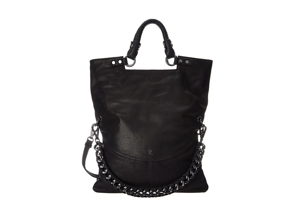 Elliott Lucca - Iara Crossbody Foldover Tote (Black) Tote Handbags