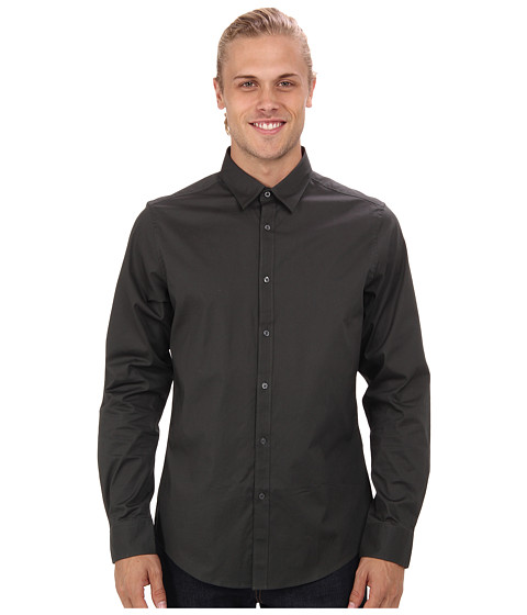 Ben Sherman - Solid L/S Woven Shirt (Forest Night) Men's Long Sleeve Button Up