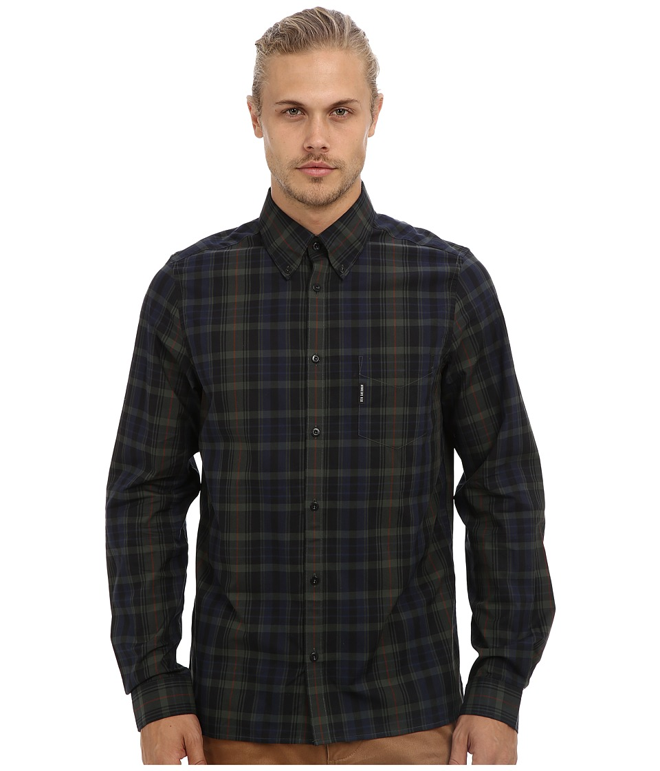 Ben Sherman - Long Sleeve Black Watch Tartan Check Woven MA10850A (Rifle Green) Men