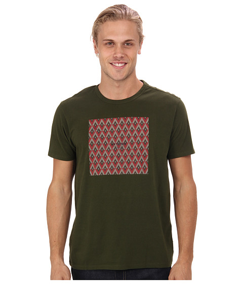 Ben Sherman - Short Sleeve Victorian Tile Print Tee (Rifle Green Marl) Men's Short Sleeve Pullover