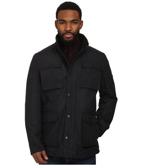 Ben Sherman - Wool Melton 4 Pocket Field Jacket MF10814 (Chimney Marl) Men's Coat