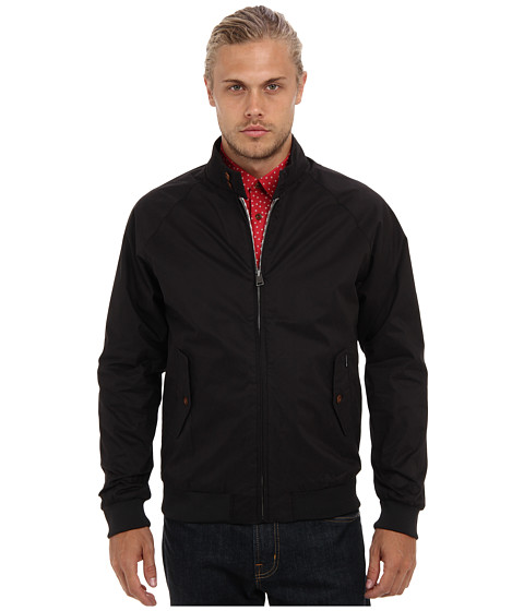 Ben Sherman - The Original Cotton Harrington Jacket (Jet Black) Men's Sweater