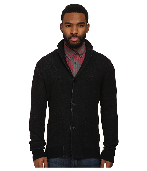 Ben Sherman - Bonded Knitted Blazer Sweater ME10743 (Jet Black) Men's Sweater