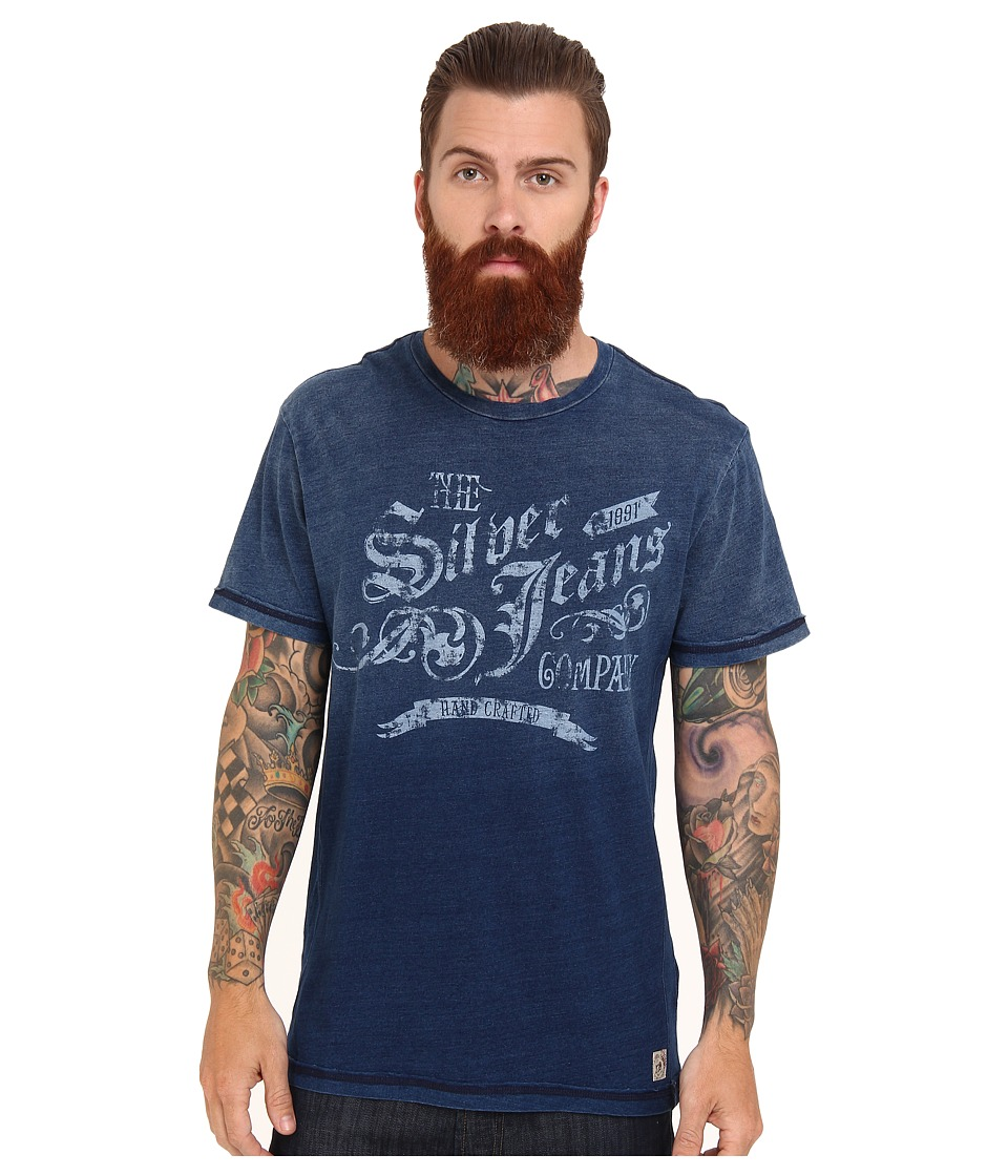 Silver Jeans Co. - S/S Crew Neck T-Shirt (Indigo) Men's T Shirt