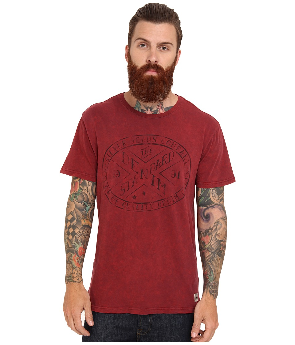 Silver Jeans Co. - S/S T-Shirt (Red) Men