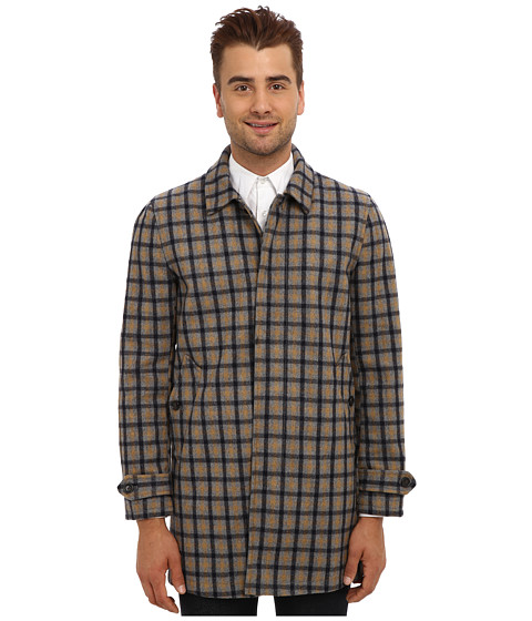 Ben Sherman - Check Wool Sartorial Car Coat MF10823 (British Orchard) Men's Coat
