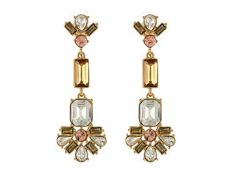 Kate Spade New York - Crystal Arches Linear Earrings (Clear Multi) Earring