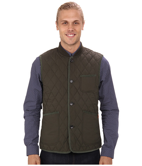Ben Sherman - Quilted Gilet Vest (Forest Night) Men's Vest