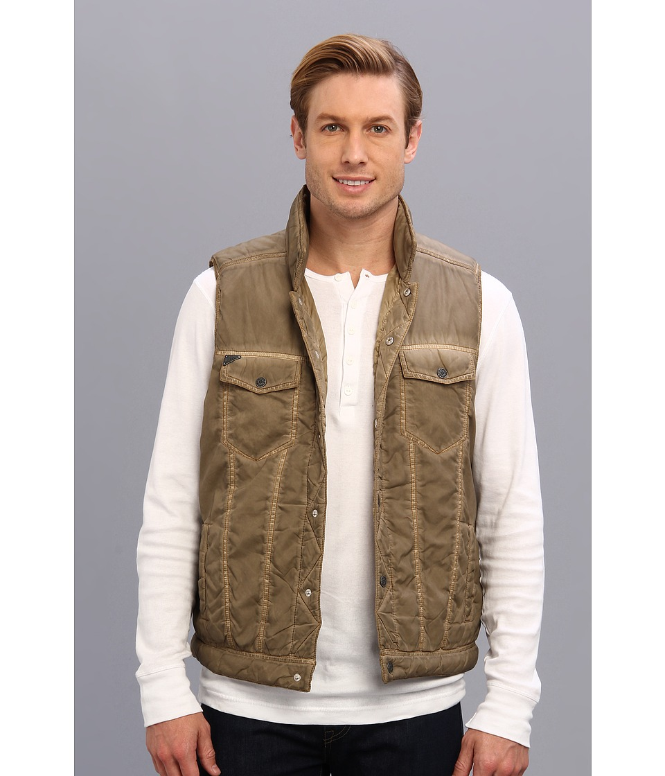 Silver Jeans Co. - Quilted Vest (Olive) Men's Vest