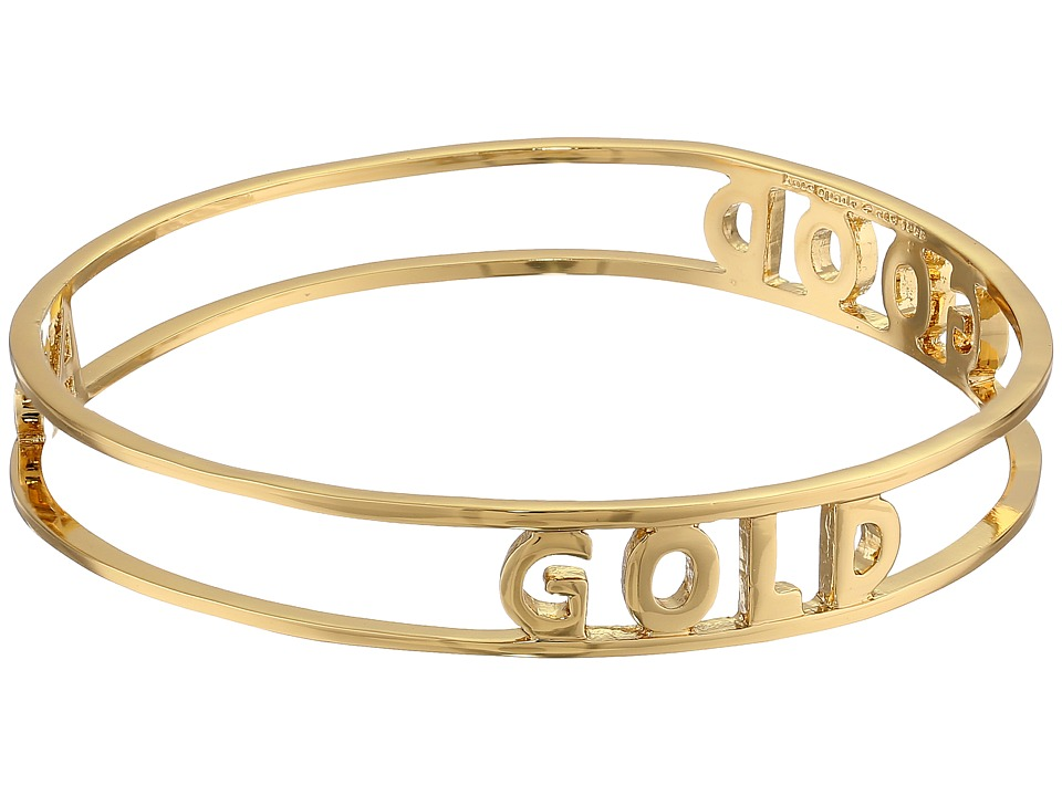 Kate Spade New York - Words of Wisdom Good As Gold Bangle (Gold) Bracelet