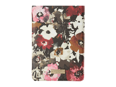 Kate Spade New York - Autumn Floral Hardcase Mini Tablet Folio (Dynasty Red) Computer Bags