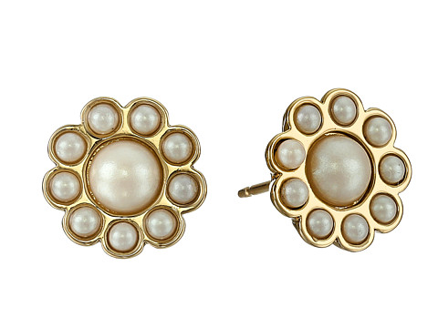 Kate Spade New York - Park Avenue Pearls Stud Earrings (Cream Multi) Earring