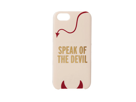 Kate Spade New York - Speak Of The Devil Resin Phone Case for the iPhone 5 and 5s (Multi) Cell Phone Case