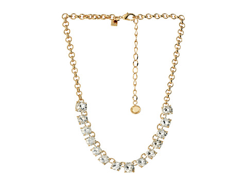Kate Spade New York - Squared Away Necklace (Clear) Necklace
