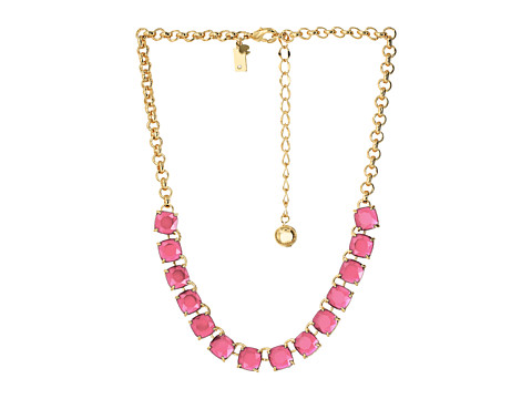 Kate Spade New York - Squared Away Necklace (Flo Pink) Necklace