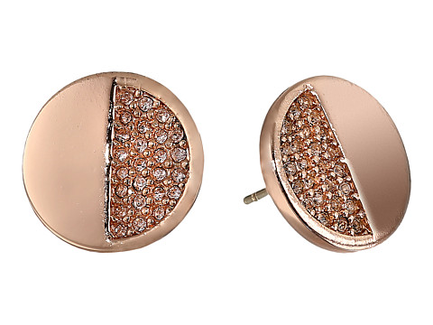 Kate Spade New York - Light The Lanterns Circle Stud Earrings (Light Peach/Rose Gold) Earring