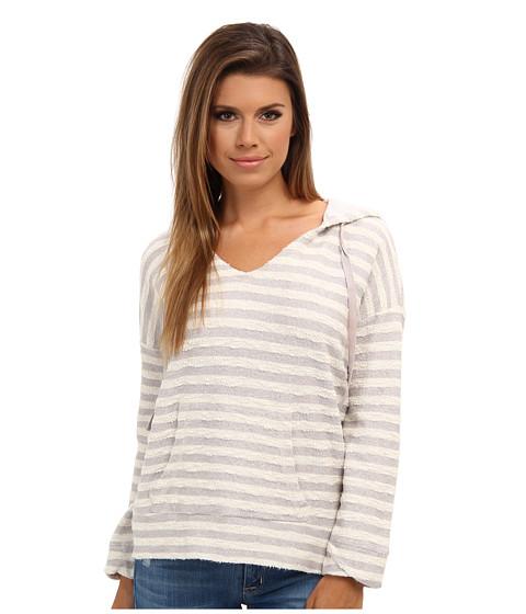 Soft Joie - Evita 6506-22243 (Ash Grey/Antique White) Women's Sweatshirt