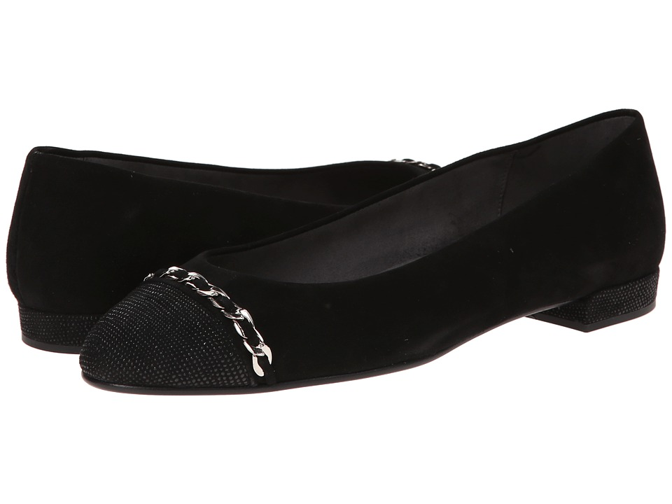 Stuart Weitzman - Legacy (Black Suede) Women's Flat Shoes