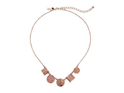 Kate Spade New York - Light The Lanterns Mini Necklace (Light Peach/Rose Gold) Necklace
